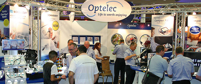 Optelec exhibition stand